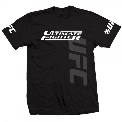 UFC Men's The Ultimate Fighter (Tuf) Live Team Faber Tee (BLACK, M)