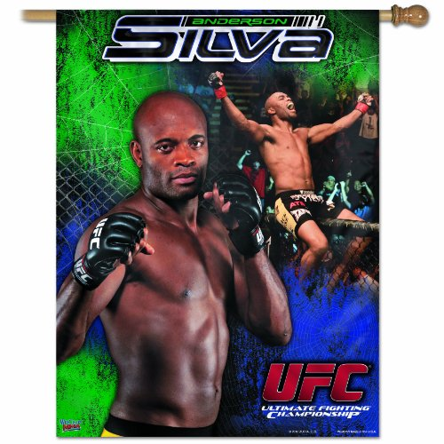 UFC Mixed Martial Arts Anderson Silva 27-by-37 inch Vertical Flag