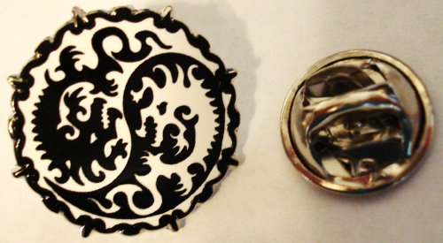 Yin Yang Dragon MMA Mixed Martial Arts Karate Lapel Pin