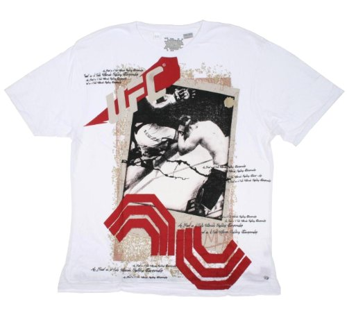 UFC MMA Polaroid Mens Shirt (Large, Chalk)