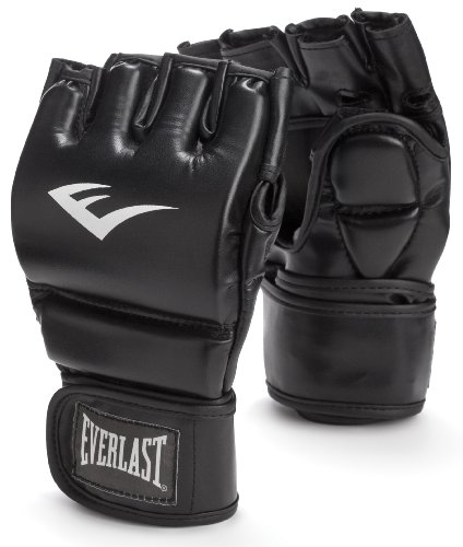 Everlast Train Advanced MMA 7-Ounce Grappling / Training Gloves (Black, Small/Medium)