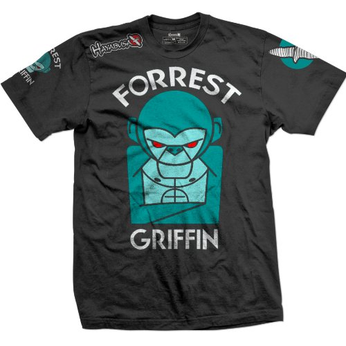 Hayabusa Official Forrest Griffin UFC 148 Walkout MMA T-shirt – Black (XXL)