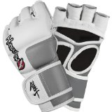 Hayabusa Official MMA Tokushu 4 oz. MMA Gloves – White/Slate Grey / Large