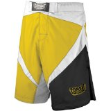 Combat Sports Fight MMA Boardshorts (Yellow, Silver, Black, 34)
