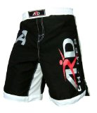 ARD Xtreme MMA Fight Shorts UFC Cage Fight Grappling Muay Thai Boxing Black All Sizes (Medium)