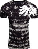 Konflic NWT Men's Royalty Graphic Designer MMA Muscle T-shirt, Black, Medium