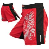 Mrx MMA Fight Shorts Stretch Penals Blk/Red (Black/Red, X-Large (34.5