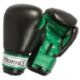 ProForce® Leatherette Boxing/Mixed Martial Arts/Karate Gloves - Black/Green