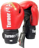 TurnerMAX Kick Boxing Gloves Professional Mixed Martial Arts Sparring bag Red Black, 8oz