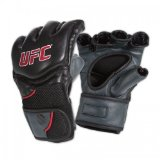 UFC Competition Grade MMA Gloves, Black/Gray, Small/Medium