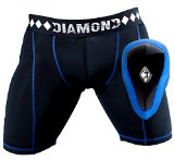 Athletic Cup Groin Protector & Compression Shorts System with Built-in Jock Strap, Small