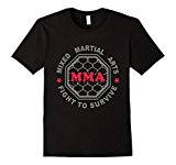 Men's MMA MIXED MARTIAL ARTS CAGE T SHIRT BJJ Large Black