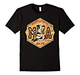 Men's Mixed Martial Arts - MMA vintage style fight logo T-Shirts Large Black