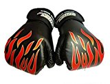 SALICO 1 Pair Children Kids Training Boxing Gloves Grappling Sparring Fight Punch Sandbag Heavy Bag Pad Mitts, Age 3-12 Years Old (Black)