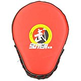 SUTEN PU Boxing Mitt Training Target Focus Punch Pad Glove Sanda Kick MMA Taekwondo Red