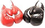 2 Pair Red Black 6oz Youth Boxing Gloves for Kids