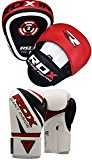 RDX Boxing Focus Punch Mitts MMA Training Punching Hook and Jab Strike Pads Traget With Punching Gloves