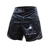 Anthem Athletics DEFIANCE Kickboxing Shorts - Black Hex With Grey - 30