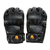 Docooler® Half Finger Boxing Gloves Kung Fu Fighting Muay Thai Martial Arts Gloves
