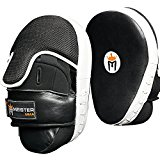 Meister Cowhide Leather Curved Focus Mitts w/ Wrist Support (Pair)