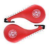 Taekwondo Durable Kick Pad Target Tae Kwon Do Karate Kickboxing Training-Red 2 Pack