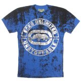 ecko Men's Unstoppable Short Sleeve MMA Tee Electric Blue XX-Large