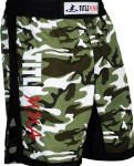 TITLE MMA Vertical Quad Flex Fight Shorts, Camo/Black, Medium