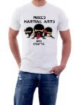 Mixed Martial Arts Crafts Funny MMA K1 Muay Thai Fighting T-shirt Medium White