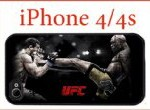 UFC Case iPhone 4 4s Case Hard Silicone Case Ultimate Fighting Championship