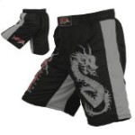 Mrx MMA Fight Shorts Stretch Penals Black/Grey (Black/Grey, Medium (30.5″- 31.5″))