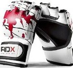 Authentic RDX Leather Gel Tech MMA UFC Grappling Gloves Fight Boxing Punch Bag K ,Small, Medium, Large, Xlarge