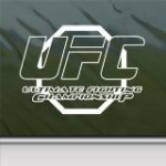 Ufc Ultimate Fighting Championship White Sticker Decal Car Window Wall Macbook Notebook Laptop Sticker Decal
