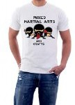 The Nakin Mixed Martial Arts And Craft K1 Muay Thai Fight MMA Ninja Funny T-Shirt Medium White