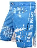Tigon Classic MMA Cage Fight Mixed Martial Arts Shorts Blue (Medium)