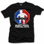 MMMA MIDGET MIXED MARTIAL ARTS FUNNY T-SHIRT XL Black Men's Tee (6.1oz)