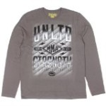 ecko Unltd. MMA Mens Strength L/S Shirt (XXXX-Large, Metal Grey)