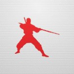 Hobby Stickers Martial Art Ninja Fighting Weatherproof Skate Special Red (4 X 3.57 In)