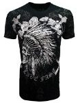 Konflic Men's Skull Indian MMA UFC T-Shirt