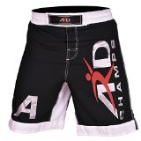 ARD Xtreme MMA Fight Shorts UFC Cage Fight Grappling Muay Thai Black (Large)