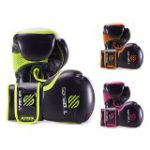 Sanabul Essential Gel Boxing Kickboxing Gloves (Black/Green, 10 oz)