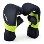 MaxxMMA Neoprene Washable Heavy Bag Gloves – Boxing Punching Training (Neon Yellow, S/M)