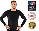 Rash Guard for Men Compression and Base Layer Shirt,  Black, X-Large