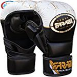 7-oz Semi Pro Farabi MMA Muay thai boxing kickboxing punch training sparring gym fitness UFC cage Martial Arts Gloves (S/M)