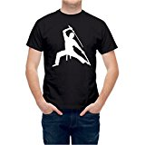 Tshirt Ninja Sword Fight Martial Arts Black L