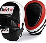 Focus Pads by Blok-IT – Train to Hit Harder, Faster, and More Accurately with These Ultra Absorbent and Perfectly Fitting Gel Focus Mitts – For Any Type Of Martial Arts Training! (Red)