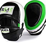 GEL Focus Pads: By Blok-IT [Focus Mitts, Punch Mitts, Hook & Jab Pads] Suitable For Boxing, MMA ,Thai Boxing, Kickboxing, Boxercise, Karate, Taekwondo, Krav Maga, Wing Chun & Martial Arts (Green)