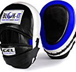 GEL Focus Pads: By Blok-IT [Focus Mitts, Punch Mitts, Hook & Jab Pads] Suitable For Boxing, MMA ,Thai Boxing, Kickboxing, Boxercise, Karate, Taekwondo, Krav Maga, Wing Chun & Martial Arts (Blue)