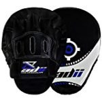 ADii Curved Hand Made High-Tec Focus Mitts / Focus Pads w/ Wrist Support ( Pair) | Boxing | MMA | MUAY THAI (Blue)