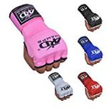 ARD Training Boxing GEL Padded Inner Gloves Hand Wraps MMA Muay Thai Martial Arts Fist Protector Mitts (Pink, Small)