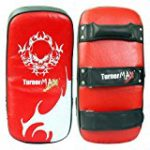 TurnerMAX Muay Thai Boxing Kick Pads Strike Shield Curved Arm Focus Bag (Single Item)